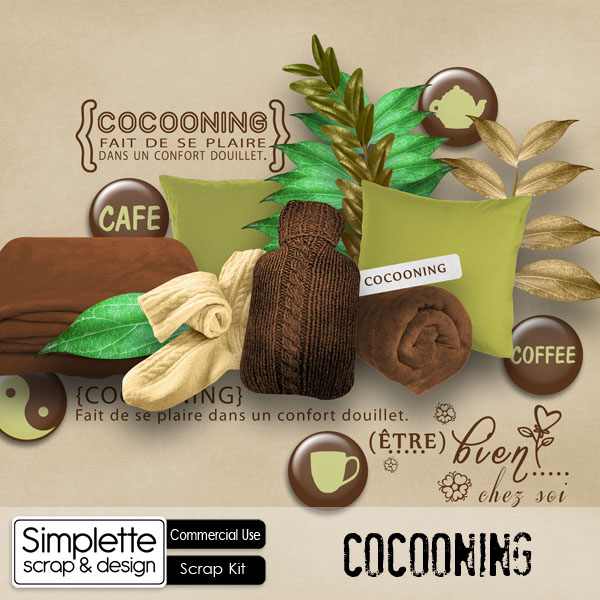 cocooning simplette scrap cu commercial use