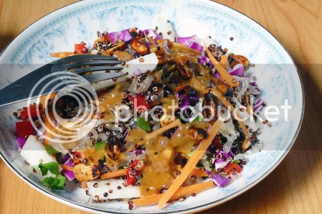 Peanut Delirium Spicy Thai Quinoa Jicama Pomelo Salad with Sriracha ...