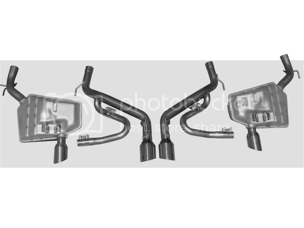 Solo Performance Camaro Convertible Axle Back Exhaust Kit