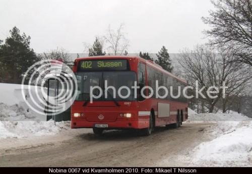 Buss 402 mellan Slussen och Kvarnholmen