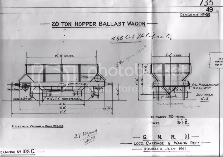 GNR(I) 20 Ton Hopper Ballast Wagon