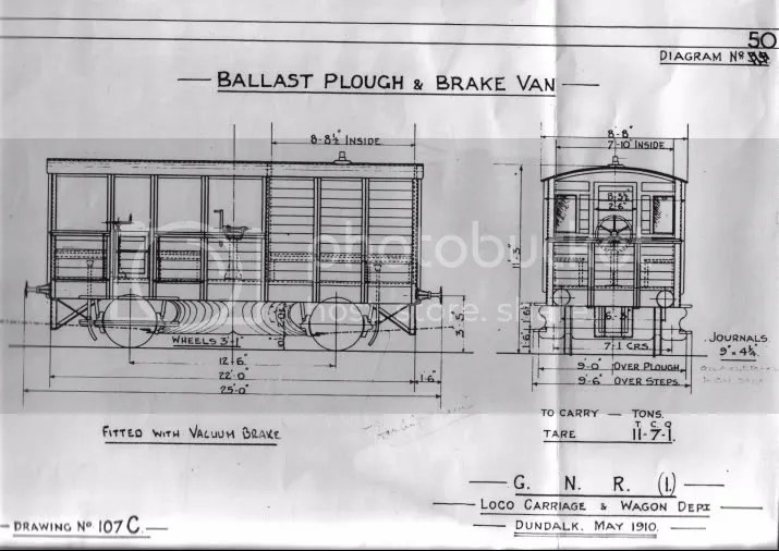 GNR(I) Ballast Plough & Brake Van