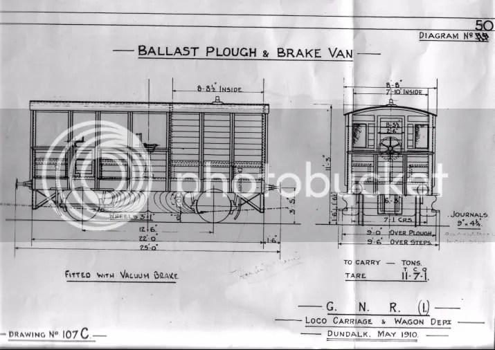 GNR(I) Ballast Plough & Brake Van