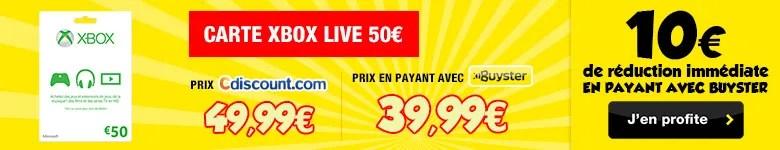 carte xbox live 50 achat vente