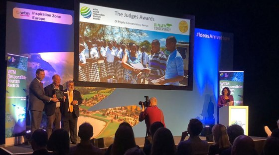 Ol Pejeta Conservancy at the World Travel Market Responsible Tourism Awards