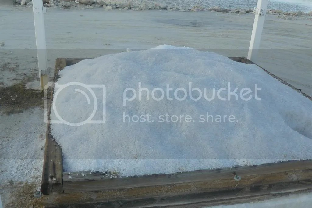 harvested salt - Grand Turk