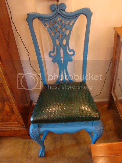 The Estate of Things chooses green crocodile on chair at downtown20.net