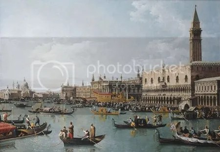 photo BernardoBellottoTheBasinOfSanMarcoOnAscensionDayVeniceC1739-1740Canvas.jpg