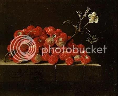 photo AdriaenCoorteWildStrawberries OnALedgeOilOnPaperLaidDownOnPanelSignedAndDatedLowerLeftOnTheLedgeACoorte1704.jpg