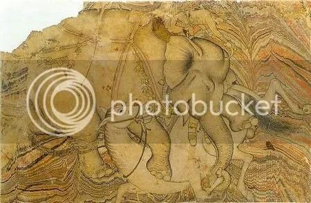 photo ElephantTramplingAHorseIllustratedAlbumleafMid17thCenturyIndiaDeccanBijapur.jpg