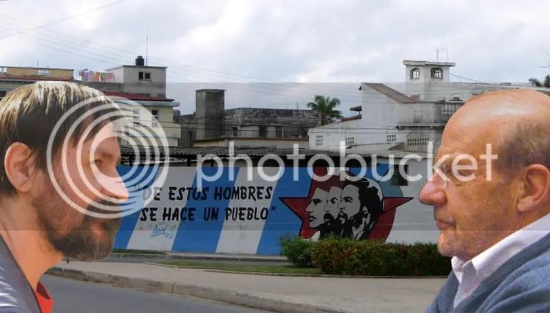 Dan Perjovschi şi Coen Stork. Între ei, Cuba.