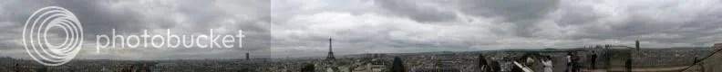 Panoramă de pe Arcul de Triumf