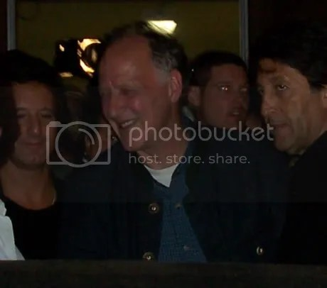 Werner Herzog, from across the limo.