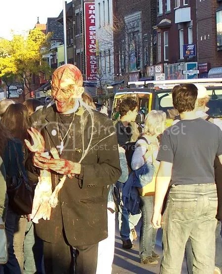 outside the Bloor Cinema, Toronto Zombie Walk '07