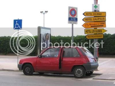 Cucurucho, aparcado y tranquilo en Sitges
