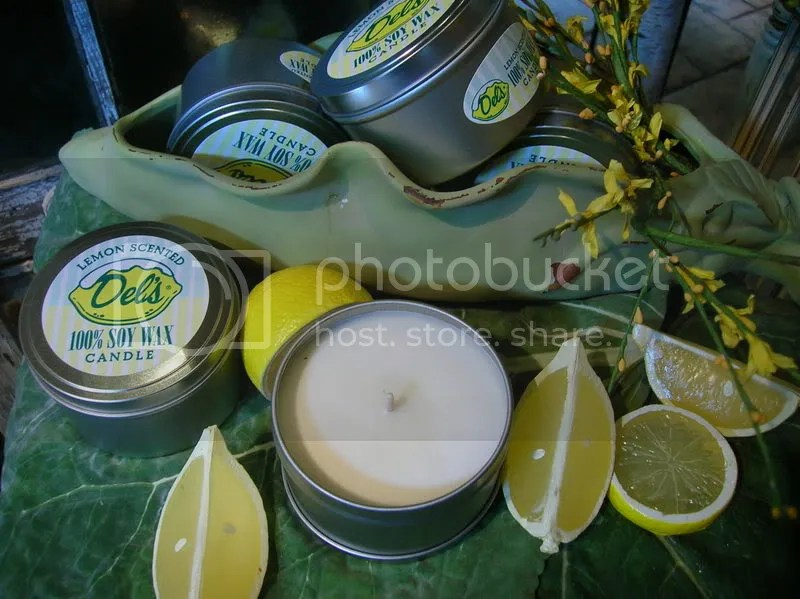 Dells Lemonade scented candle... dont worry folks, a New York System scented candle is on the way
