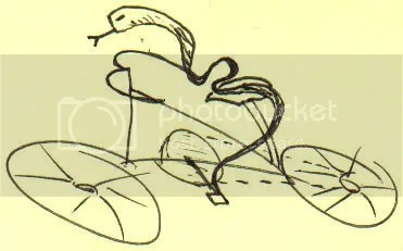 Snake on a Bike sketch