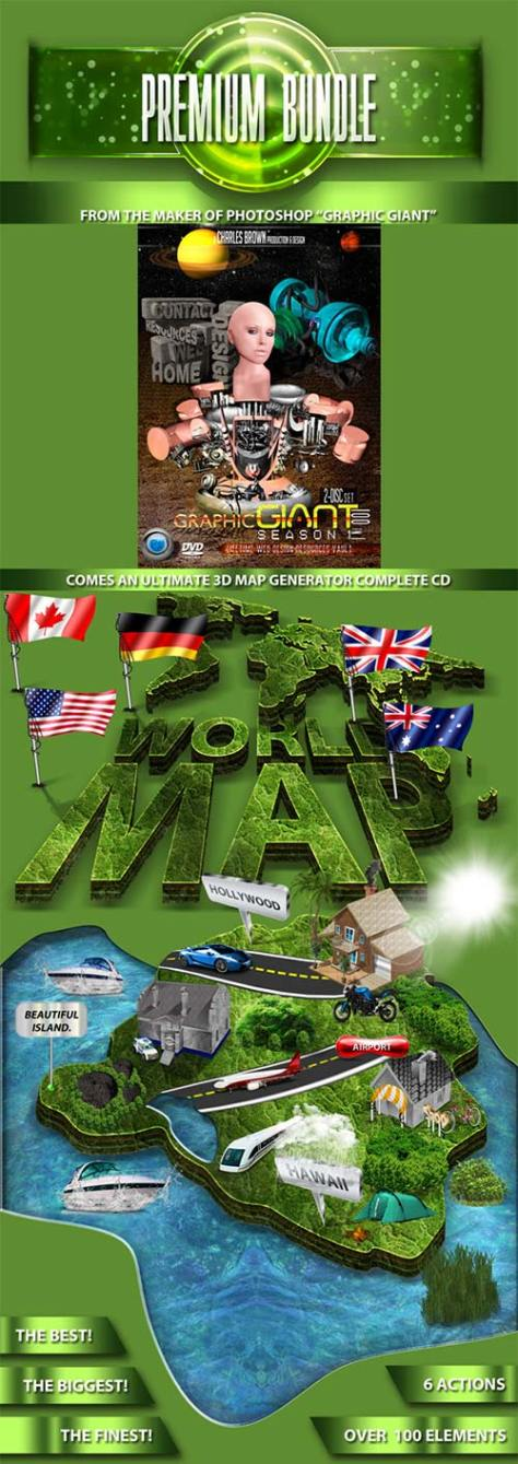 GraphicRiver World 3D Map Generator