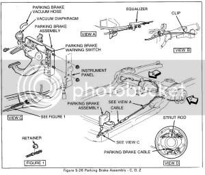 95 Cadillac deville emergency brake release cadillac