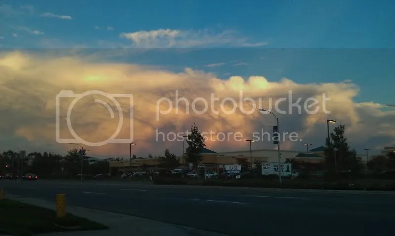 A stunning sunset from Temecula as thunderstorms move by just to the east on 9/23/11. Storms brought showers and lightning to thunderstorms earlier that afternoon to Temecula. Photo by Michael Mojarro
