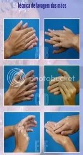 técnica lavar mãos