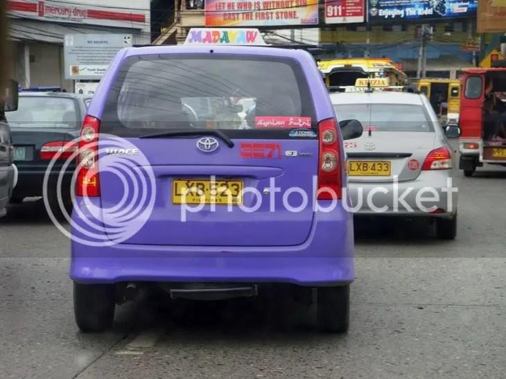 Madayaw Taxi (Toyota Avanza); Krizia Taxi (Toyota Vios)
