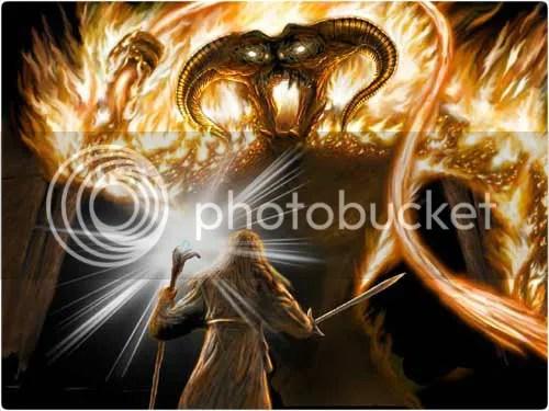 Gandalf and Balrog - LOTR
