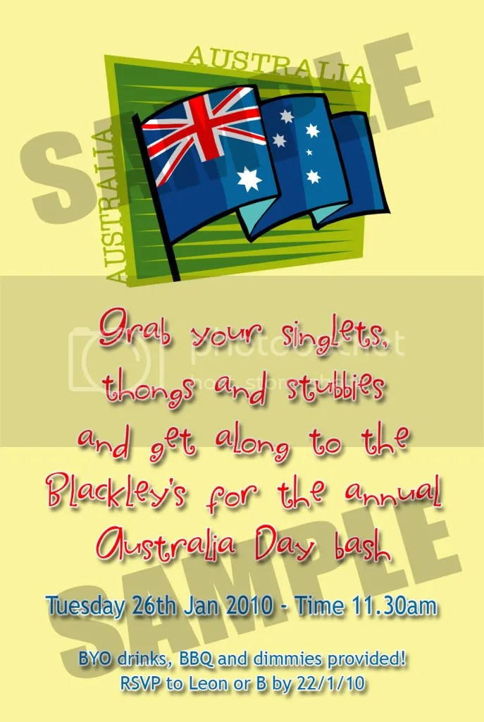 australia day invites | Invitationjdi.co