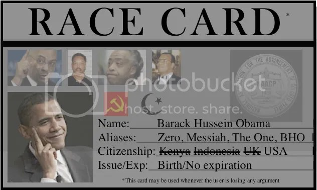 Look who's using the race card...