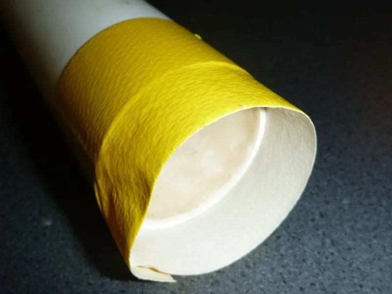 Gaffer tape applied to PVC pipe