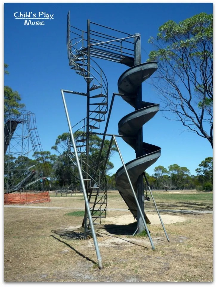 The spiral slide - Katanning All Ages Playground
