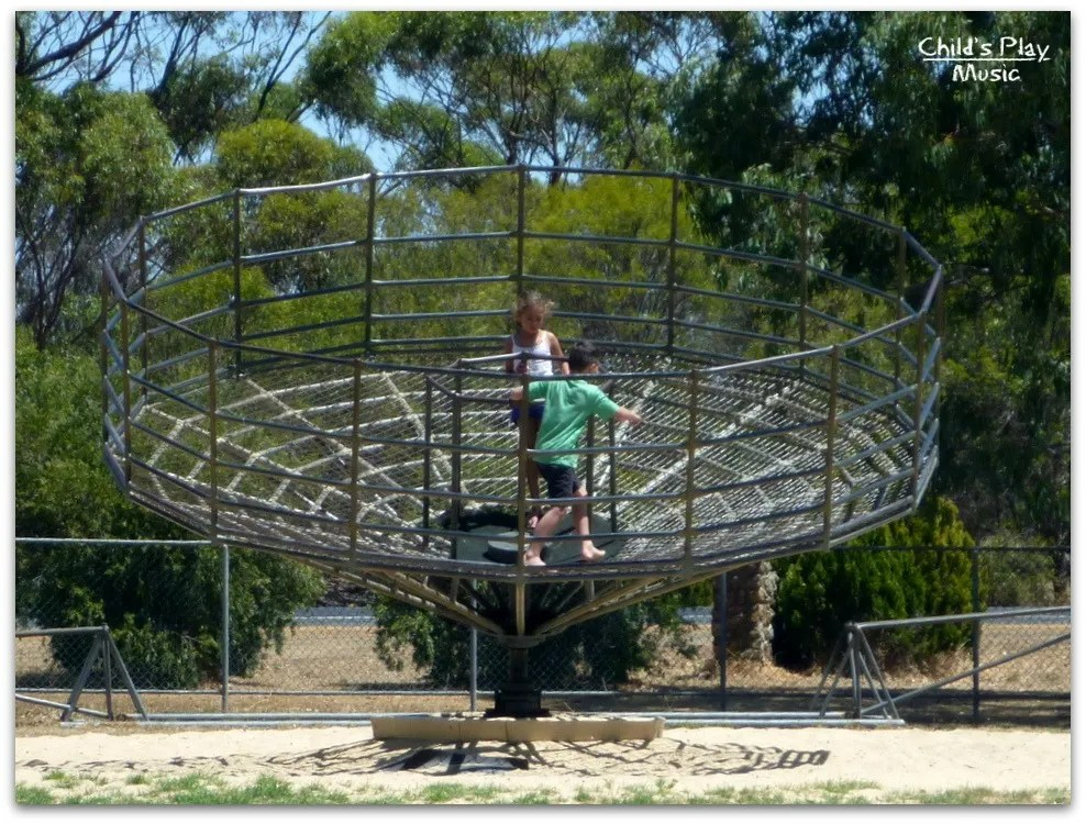 Merry-go-round roundabout  at Katanning All Ages Playground