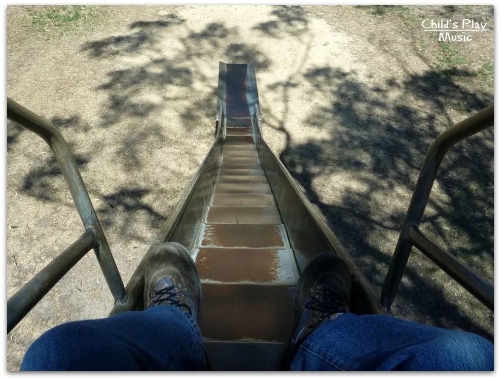Looking down the stepped ripple slide at Katanning All Ages Playground