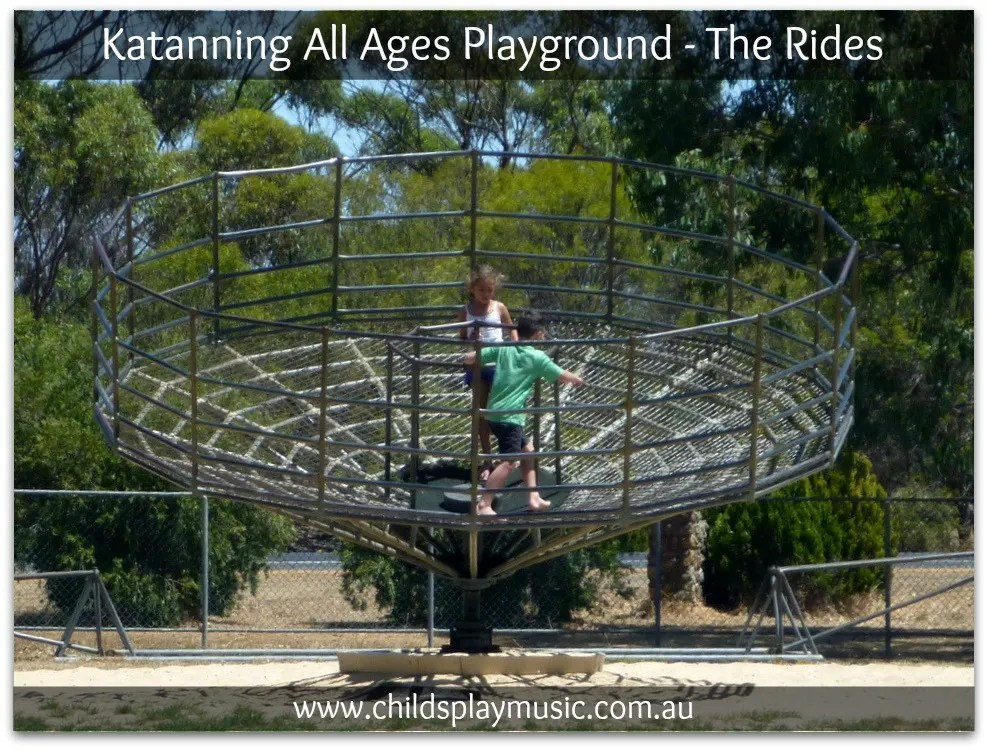 Huge merry-go-round at Katanning All Ages Playground