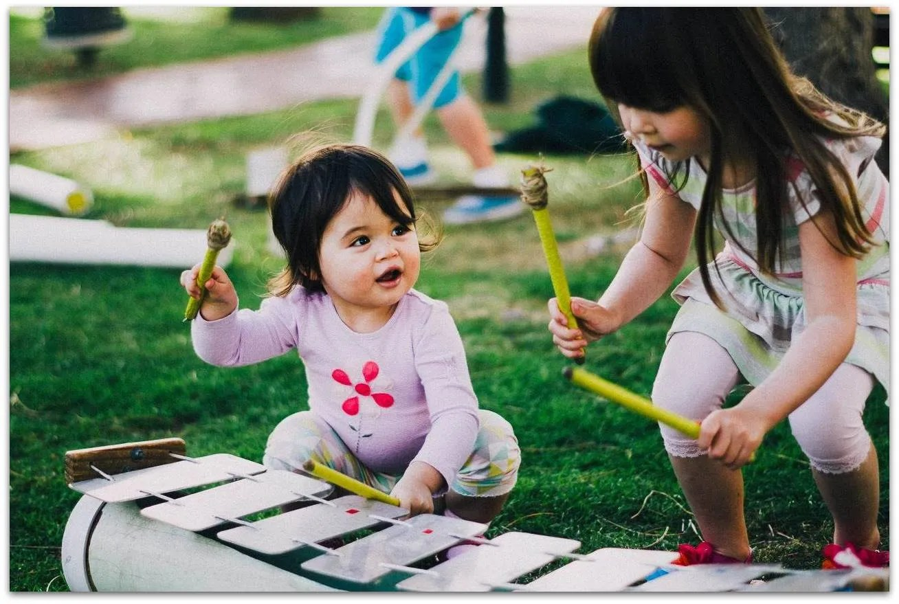 Even infants can play our instruments - Joondalup Little Feet Festival, 2014.