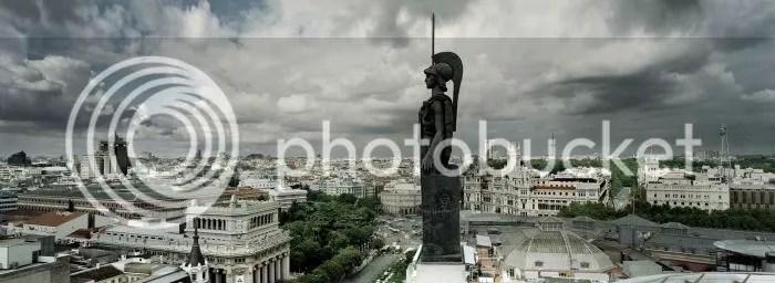 Vista aérea desde el Círculo de Bellas Artes, Fernando Manso
