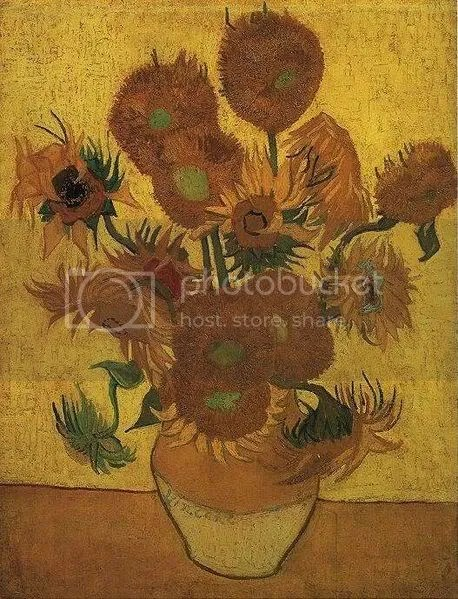Zonnebloemen, segunda repetición (1889), Van Gogh