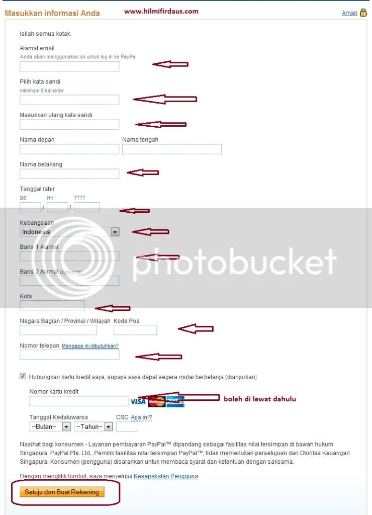 Cara Daftar Paypal (Membuka Rekening Paypal)