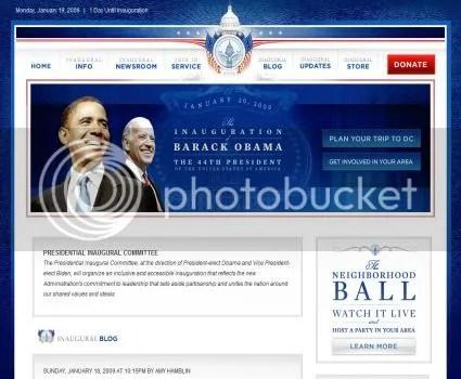 Site Oficial da Tomada de Posse de Barack Obama