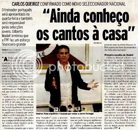Carlos Queiroz confirmado como seleccionador