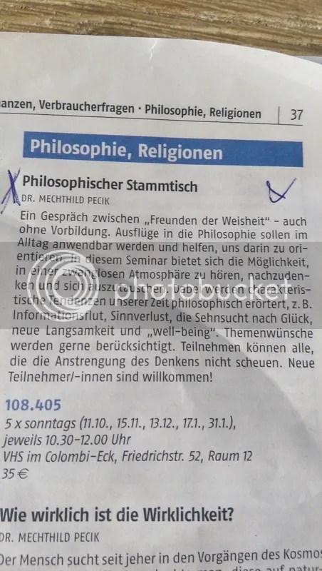philosophischer Stammtisch