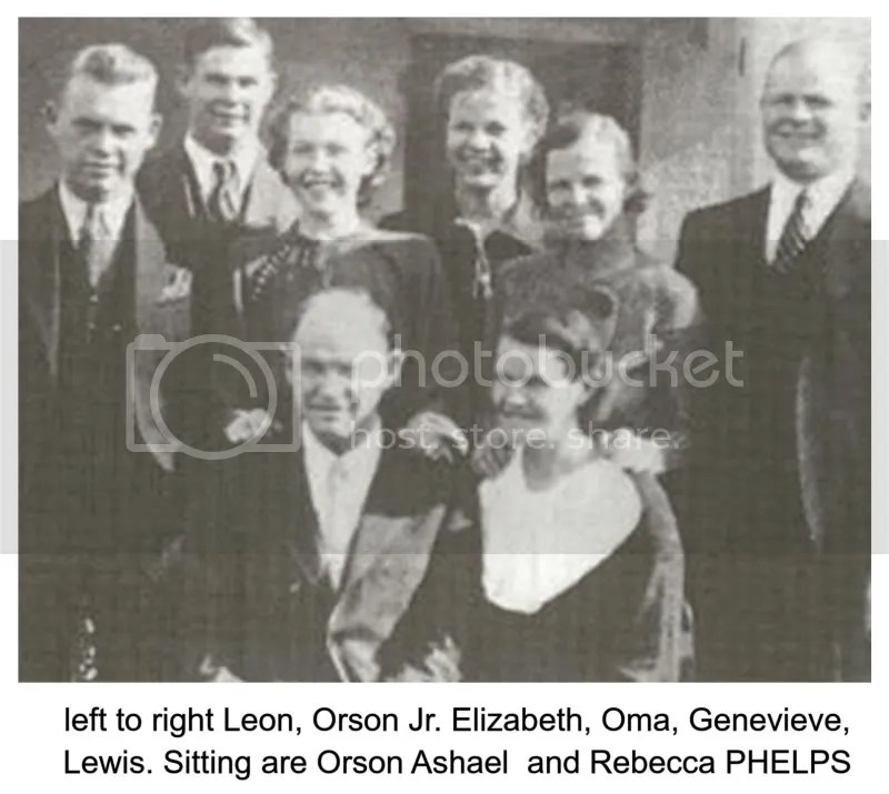 Orson PHELPS Family