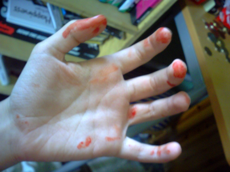 Bloody Finger Painting