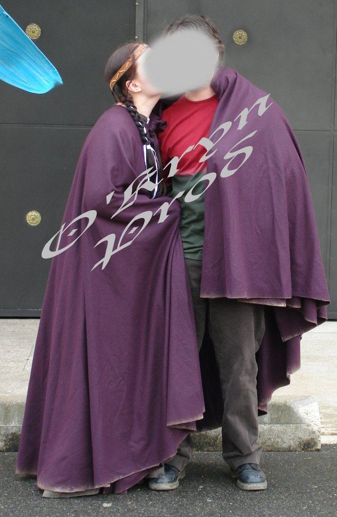 cape costume médiéval - envergure