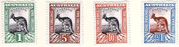 Gerald King - Alternative Australia - 1913. Baldy Essays (High Values Stamps - Second printing)