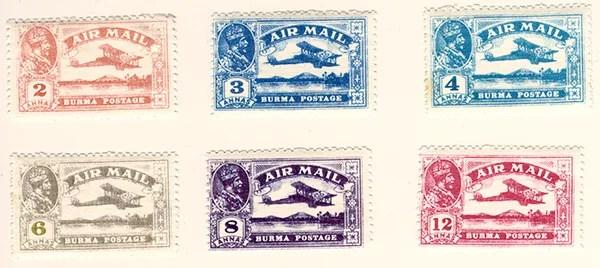 Gerald King - Alternative Burma - 1927 King George V Airmail (Stamps)