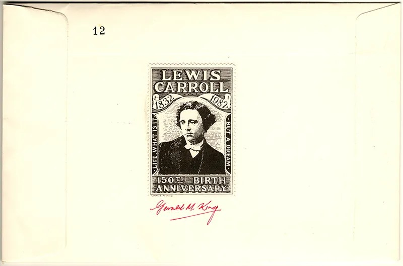 Gerald King - Lewis Carroll 150th Birth Anniversary - Cover (Back) - Signed by Gerald King