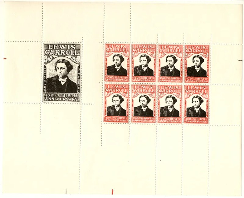 Gerald King - Lewis Carroll 150th Birth Anniversary - Sheetlet (Perforated)