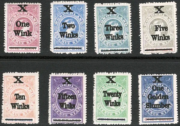 Gerald King - Wonderland Revenues - 1861 as above but overprinted with new currency