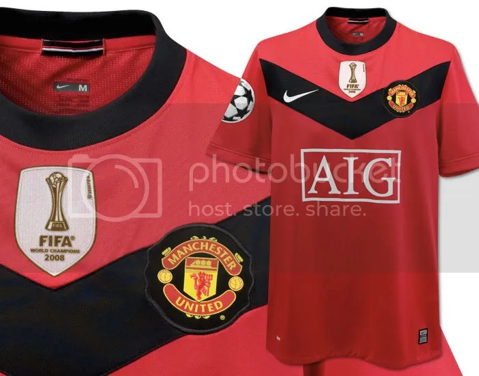 size 40 703ad 86d6c Manchester United Nike 2009/10 UEFA Champions League Home ...